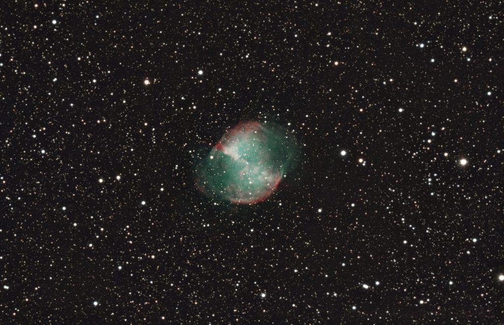 M27 Dumbbell Astronomie_Astrophotographie_Canon_M27_Dumbell_Fleche_200mm_2