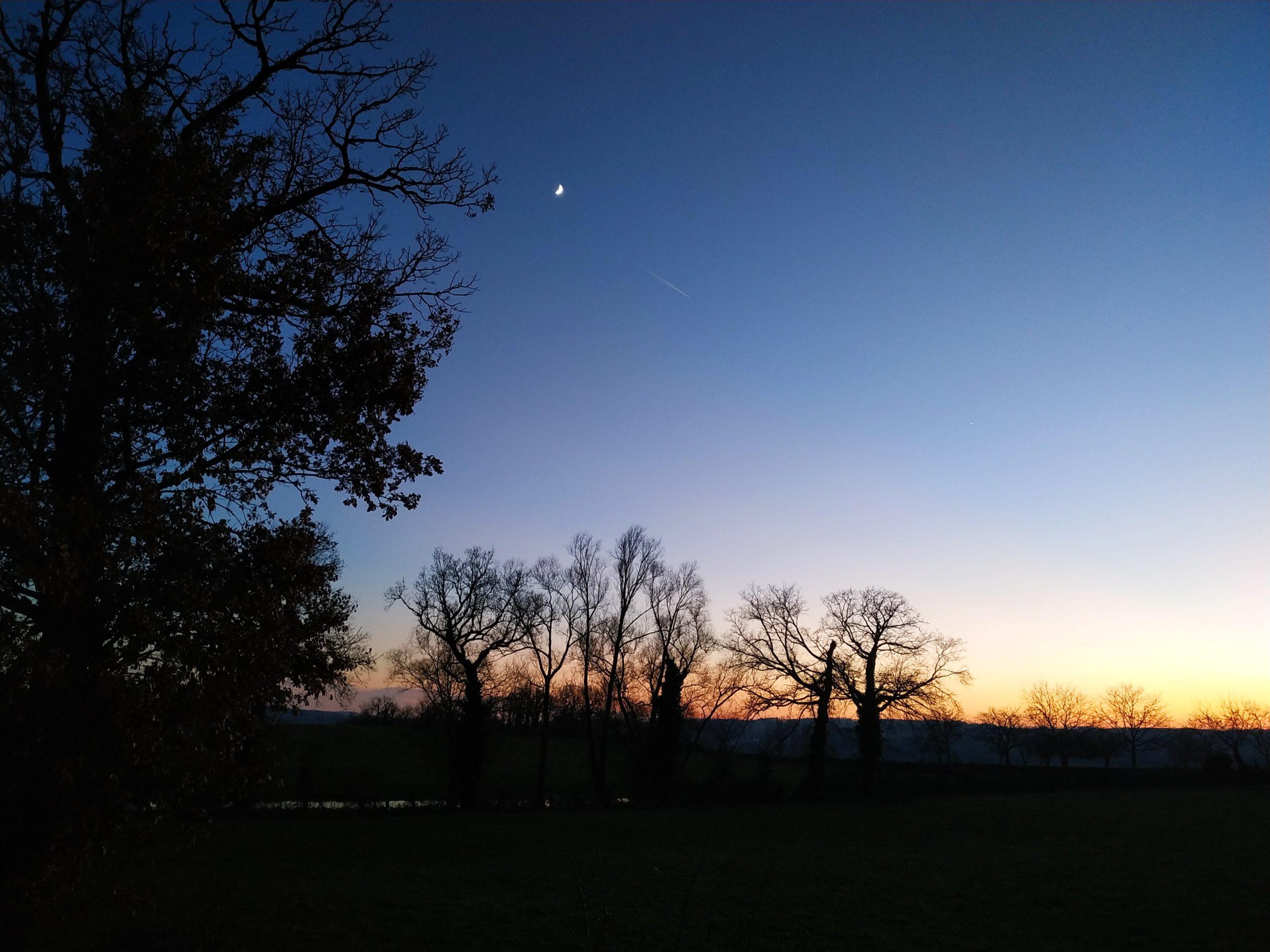 Lune et Vénus le 30/12/2019